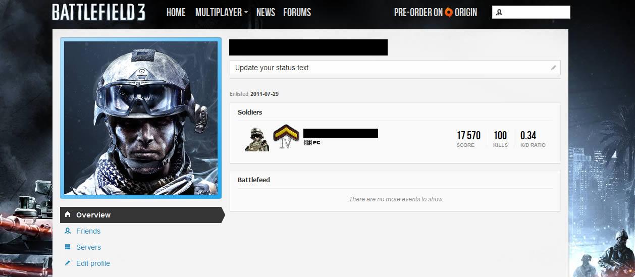 Как создать профиль в battlefield - Benefist.ru