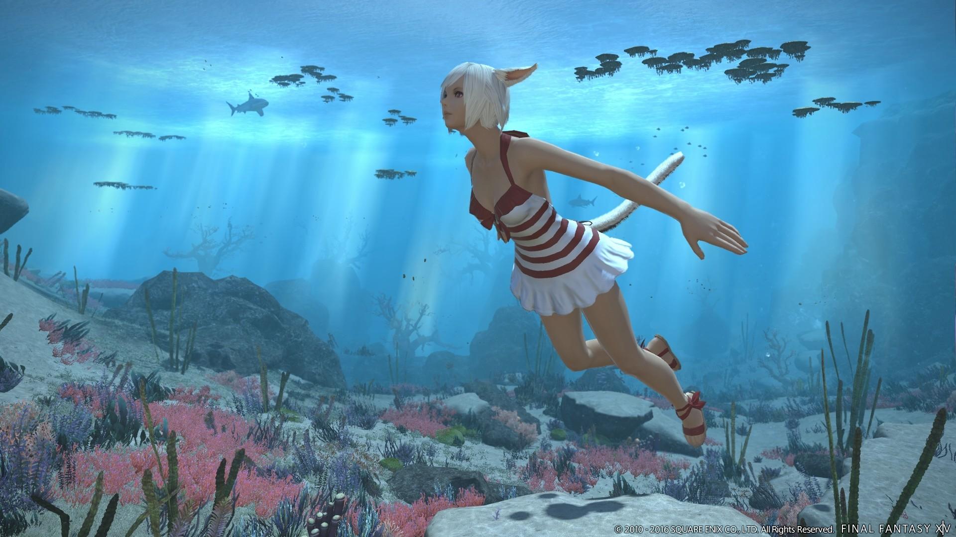 Новые скриншоты Final Fantasy XIV: Stormblood — Красный Маг, плавание и другое