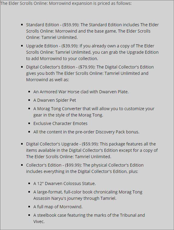 В новом дополнении The Elder Scrolls Online игроки отправятся в Морровинд
