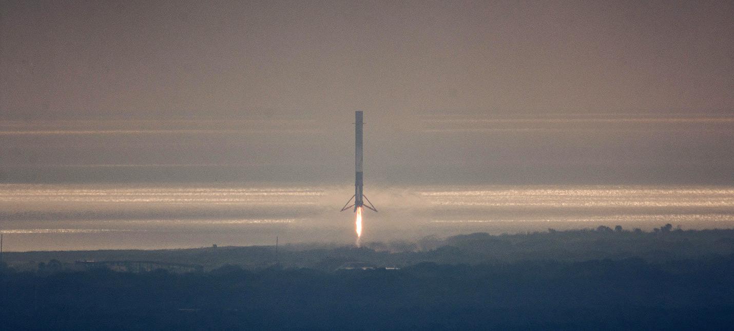 Видео сегодняшней посадки ракеты SpaceX
