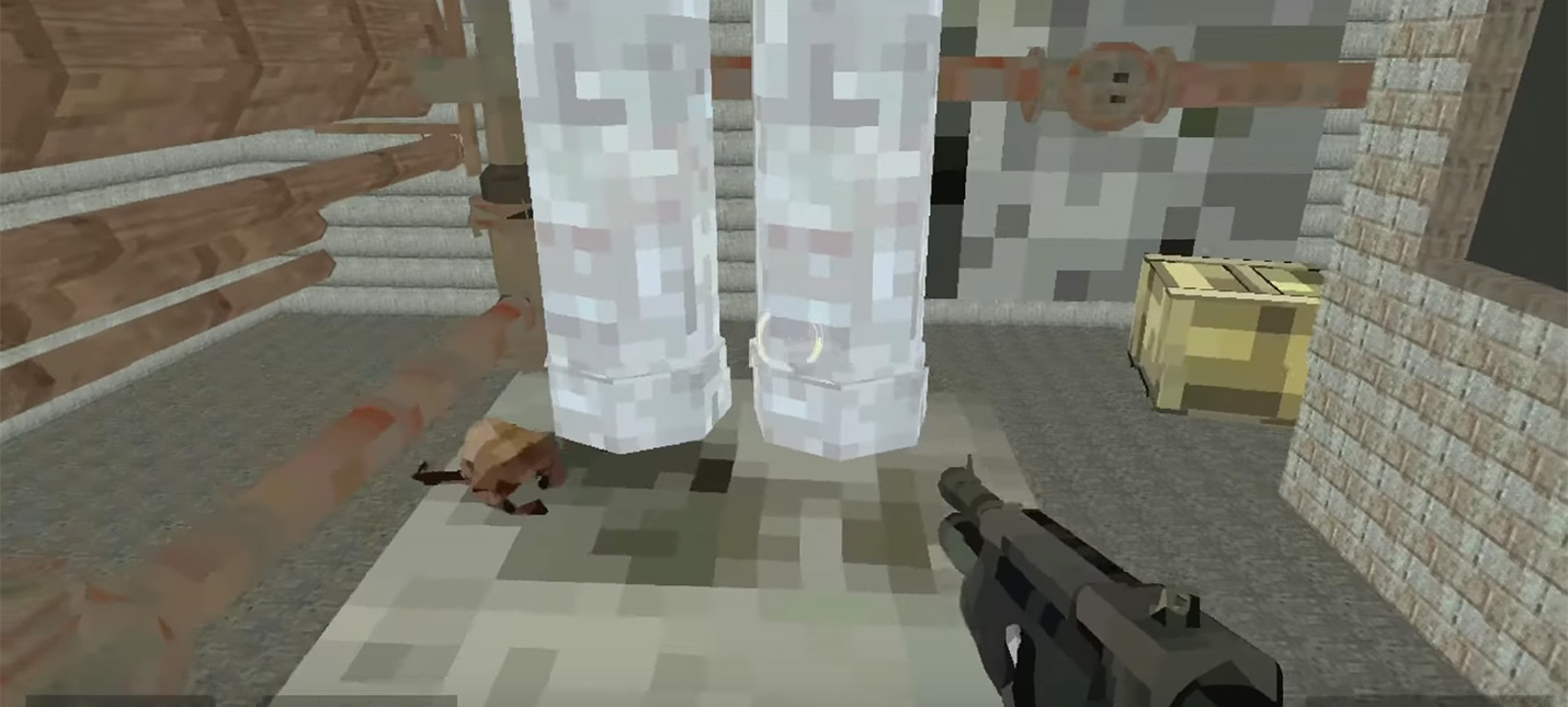 Half-Life 2 на супер-низких настройках выглядит как Minecraft