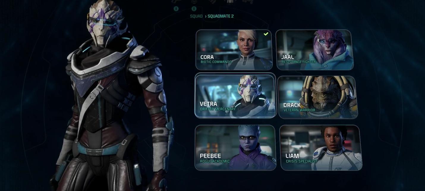 Серия геймплейных роликов Mass Effect Andromeda: компаньоны и их способности