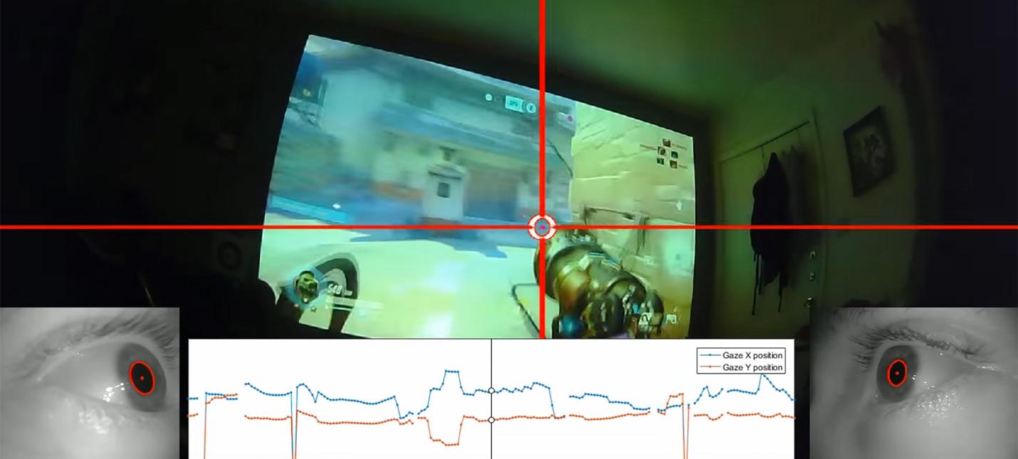 Геймер Overwatch записал движение глаз во время игры