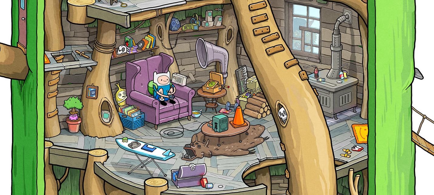Детальный взгляд на дом Финна и Джейка из Adventure Time — разглядывайте внимательно