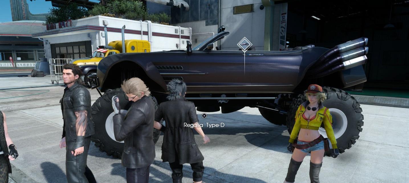 После апдейта Final Fantasy XV Регалию можно превратить во внедорожник