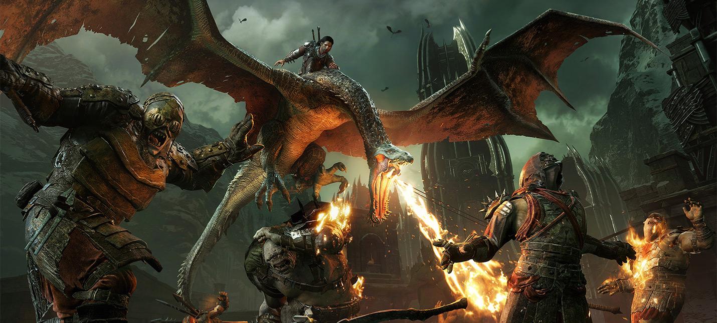 16 минут геймплея Middle-earth: Shadow of War: бой с драконом и сюжетная сцена