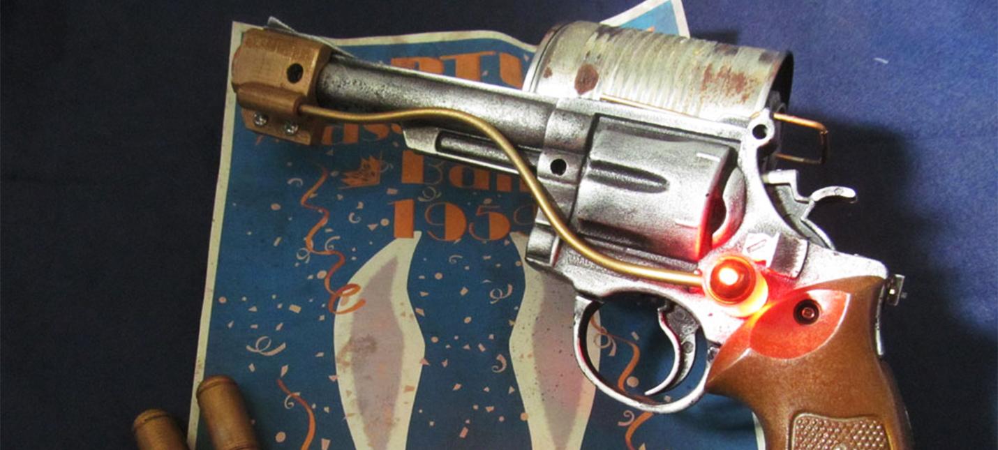 Эта реплика револьвера из BioShock напечатана на 3D-принтере