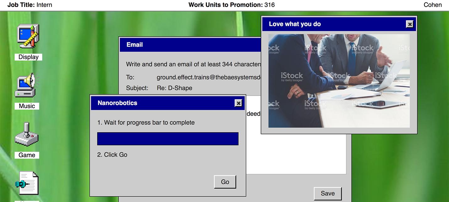 Симулятор работы в Windows 95 для самоуспокоения