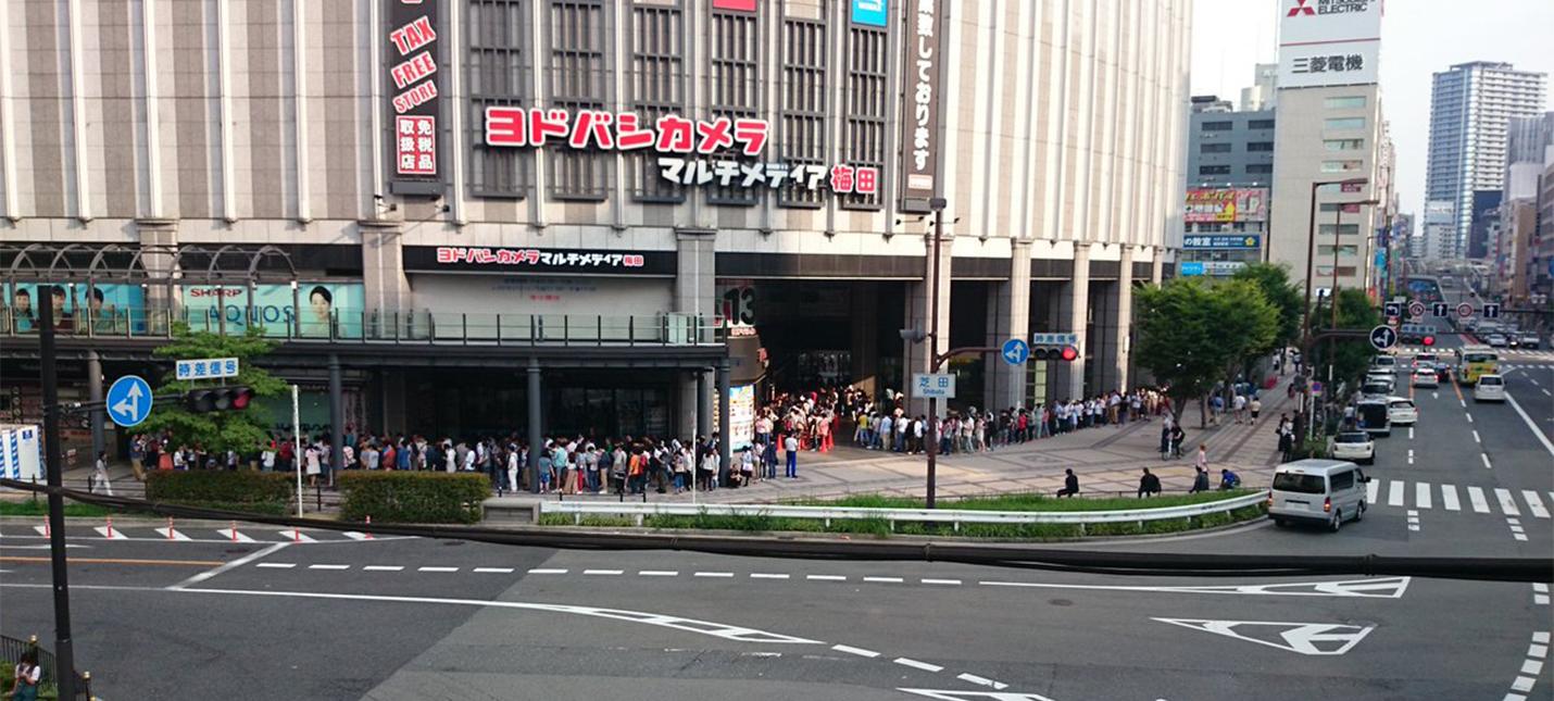 Японцы до сих пор выстраиваются в адские очереди за Nintendo Switch