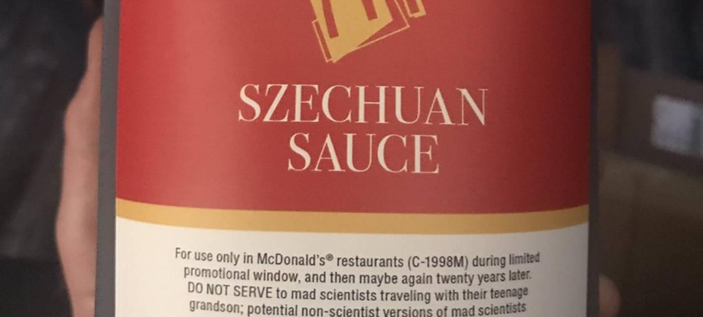 """Создатель """"Рик и Морти"""" получил сычуаньский соус от McDonald's"""