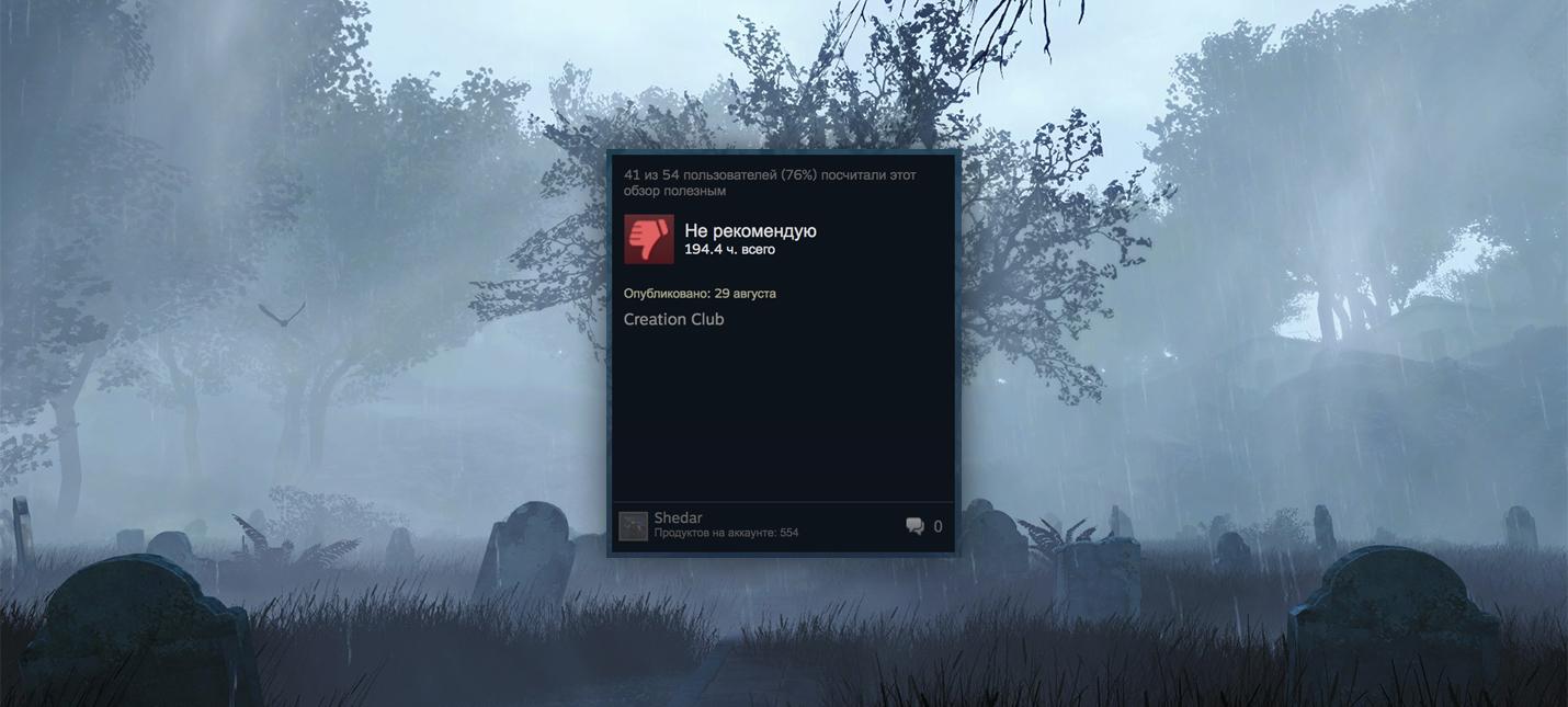 Запуск Creation Club от Bethesda убил рейтинг Fallout 4 в Steam