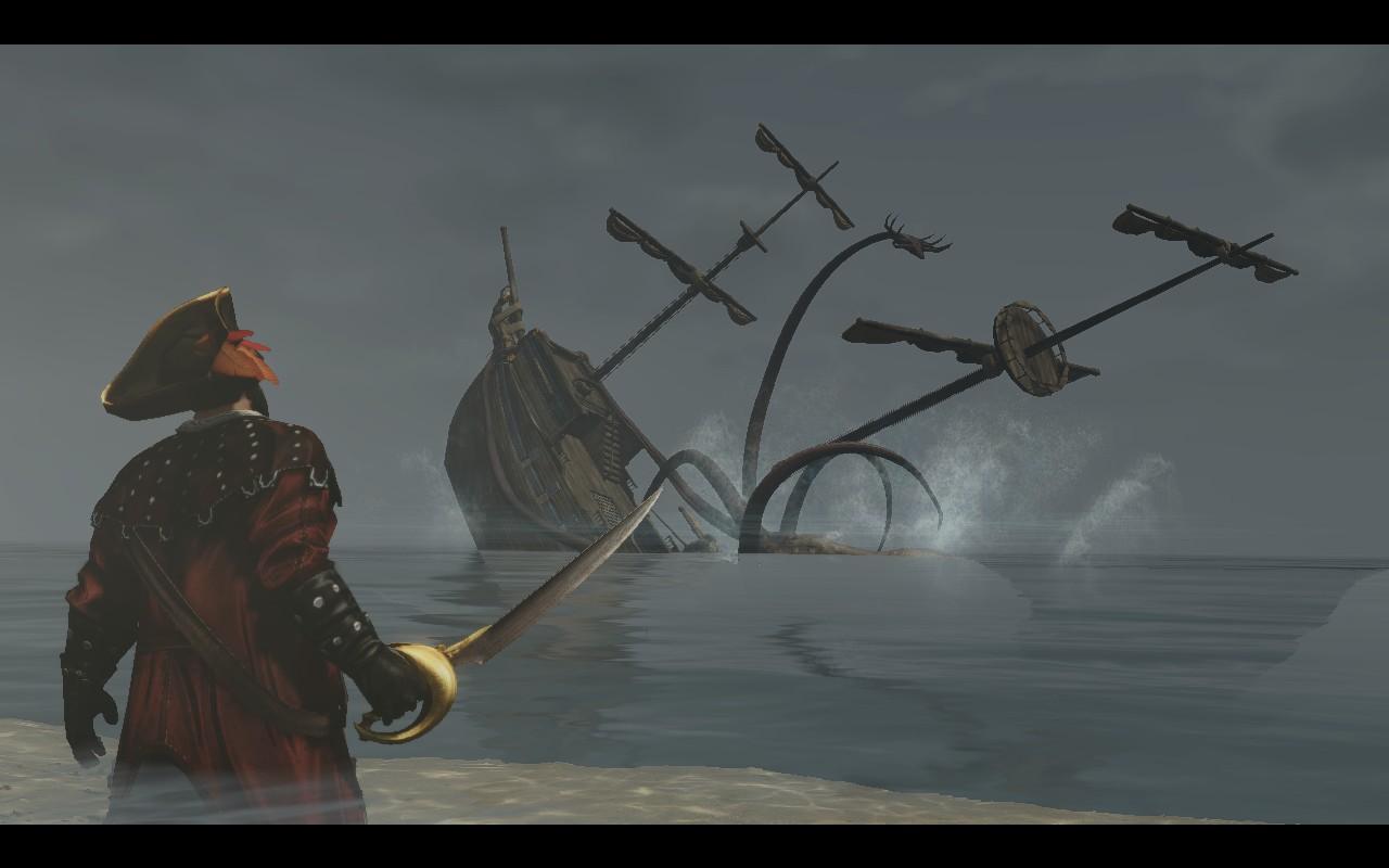 Драма! Эффектность! Корабли утаскиваемые под воду морскими монстрами!