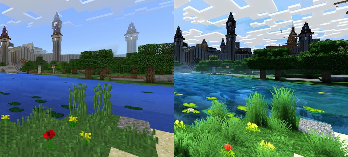 Большое обновление графики Minecraft задерживается до 2018 года