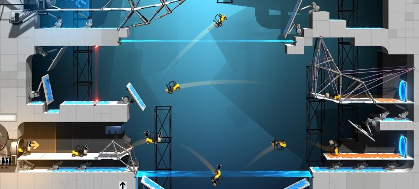 Bridge Constructor Portal — новая игра во вселенной Portal