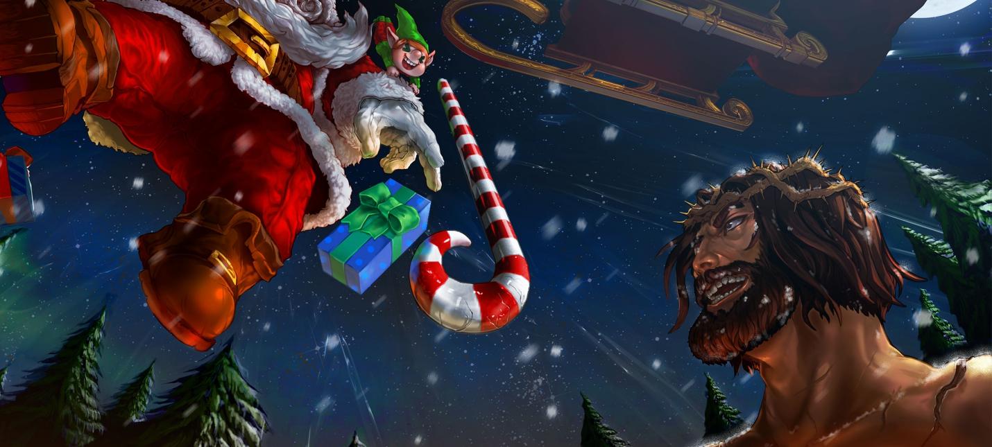 Дуэль Санта-Клауса и Иисуса в новом трейлере Fight of Gods