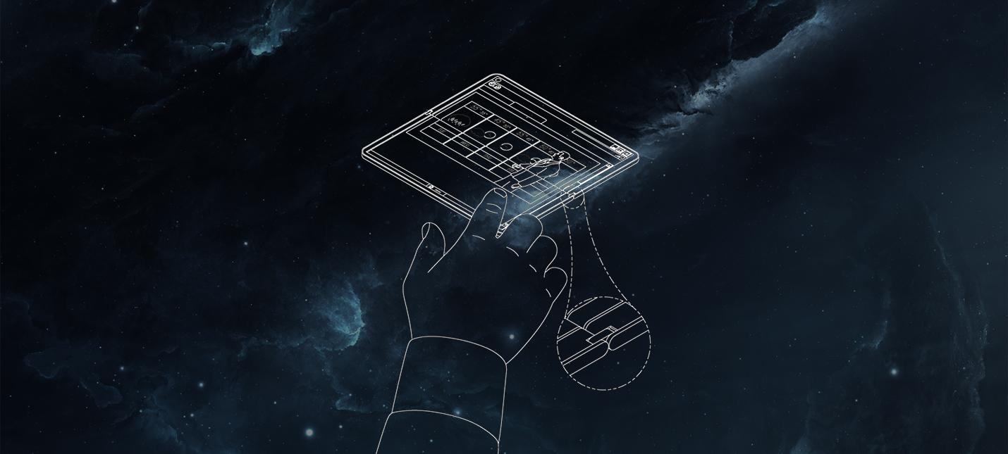Так может выглядеть складной планшет Surface