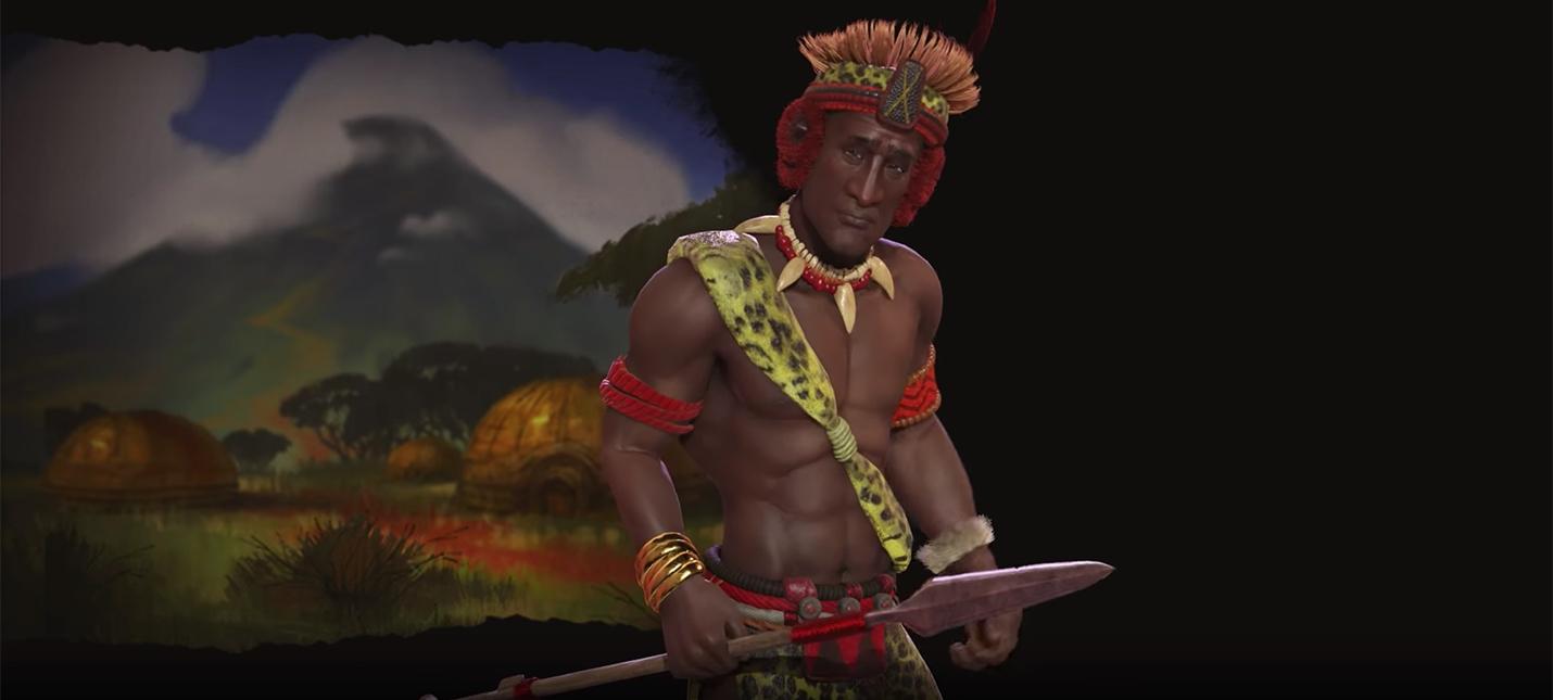 Чака — лидер Зулусов в Civilization VI: Rise and Fall