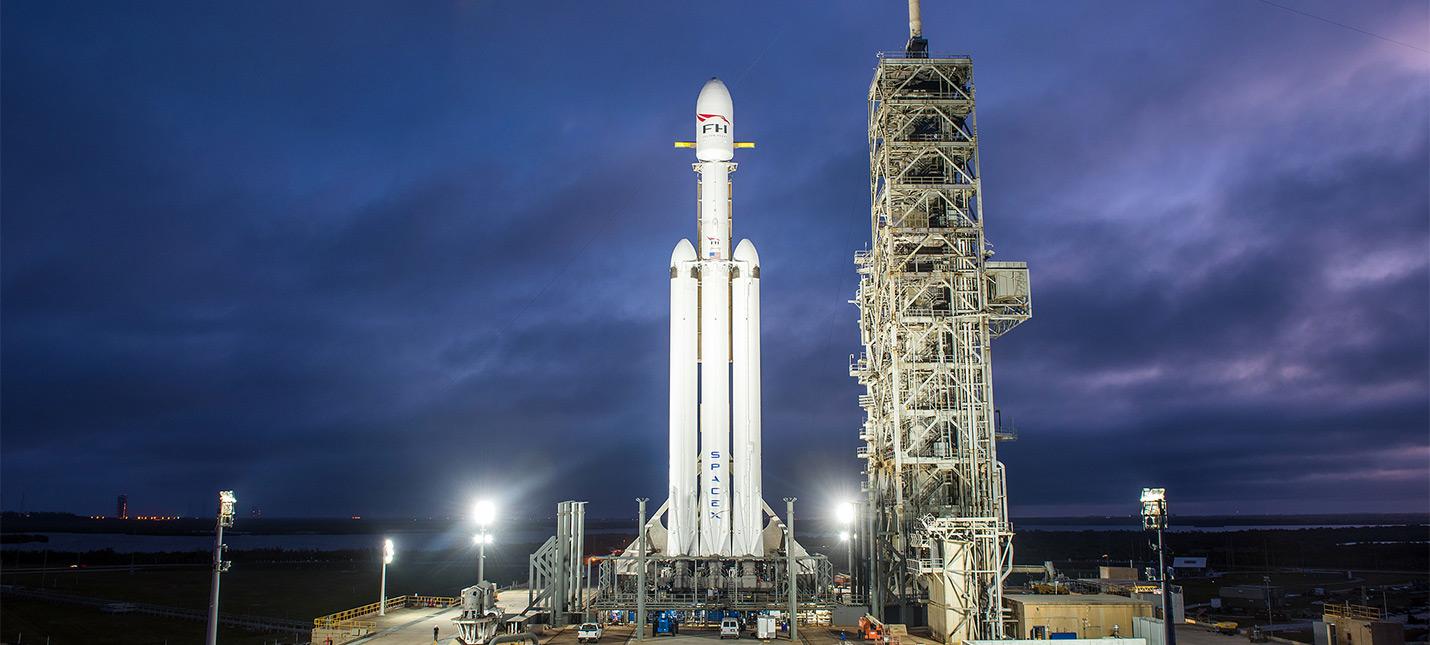 Прямой эфир с запуска Falcon Heavy