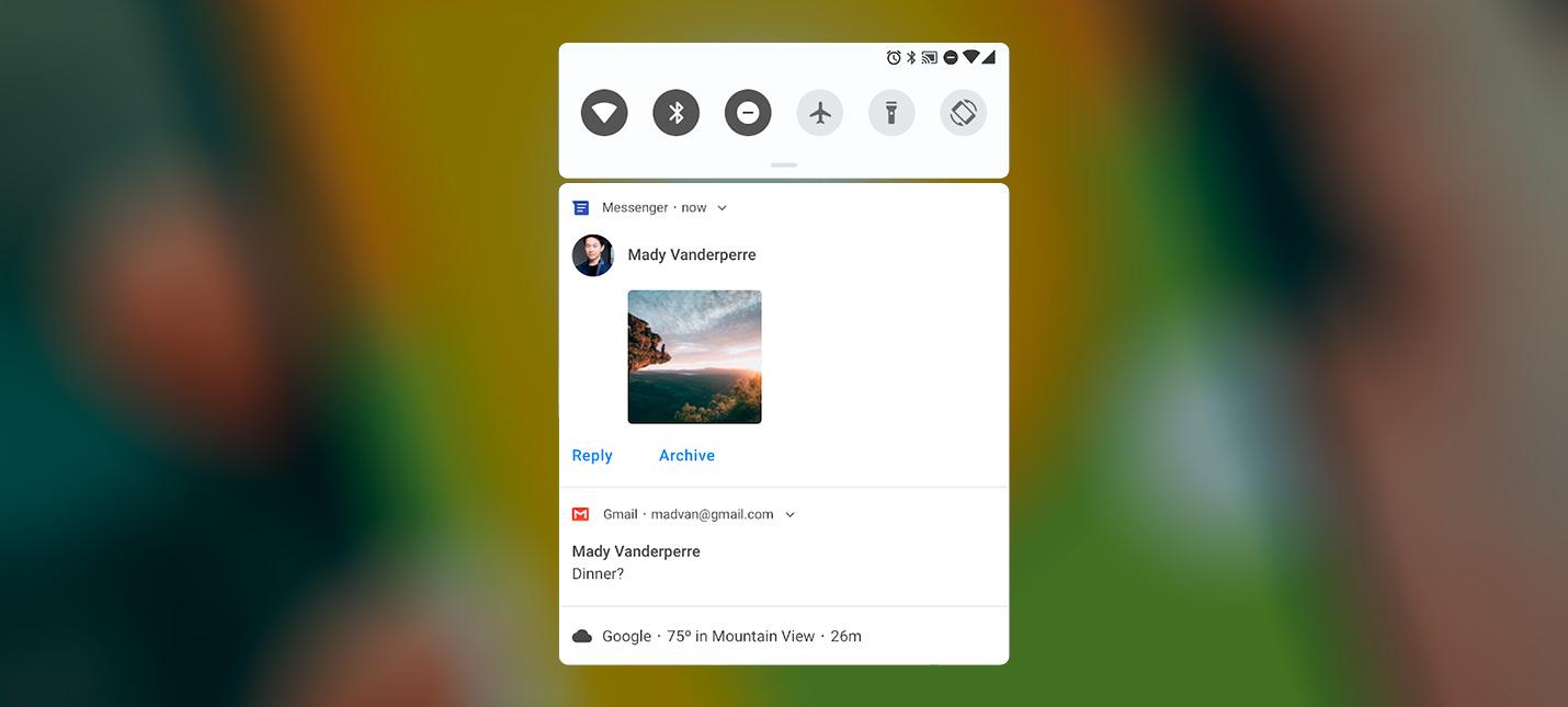 """Android P с поддержкой """"ушастых"""" дисплеев и уведомлениями в стиле iOS"""