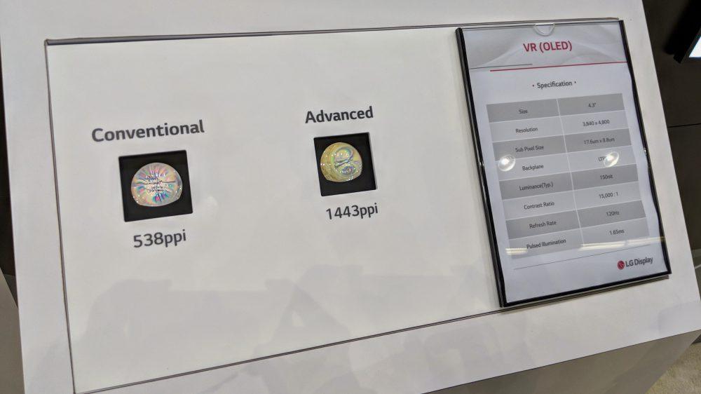 Google и LG Display представили VR-дисплей с плотностью  1,443 ppi
