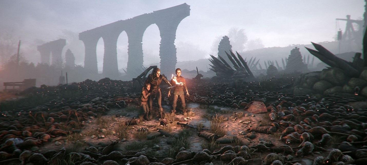 Много крыс в геймплее A Plague Tale: Innocence