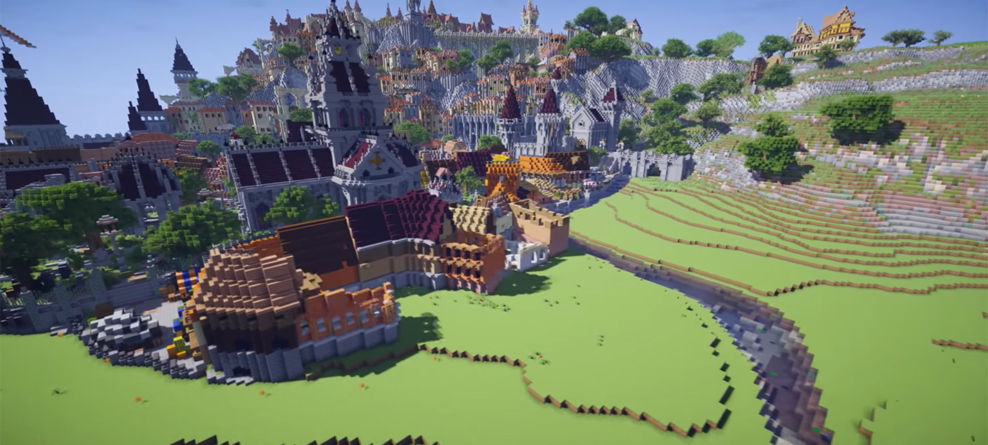 В Minecraft воссоздали Новиград из The Witcher 3