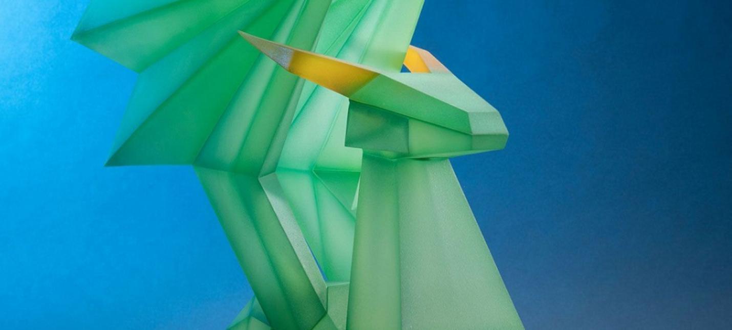Фигурка кристального дракона из Spyro the Dragon