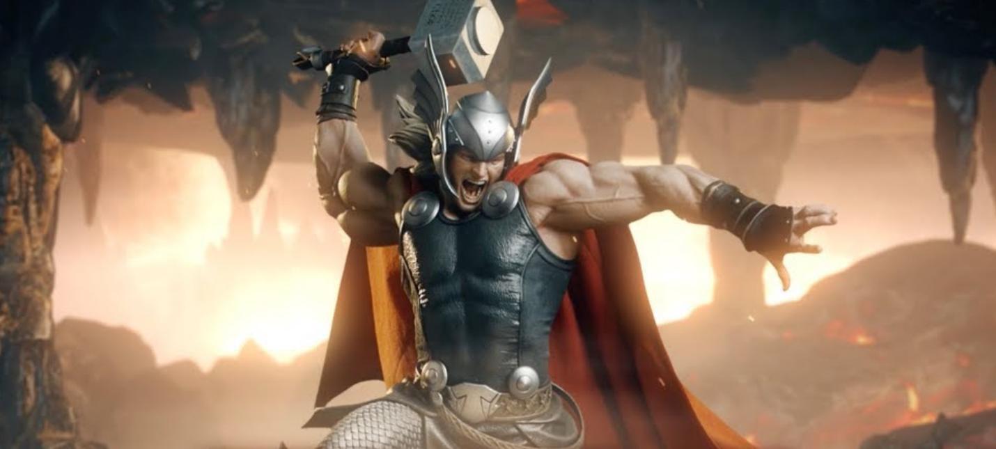 Фантастическая статуэтка Тора с Мьёльниром от Sideshow