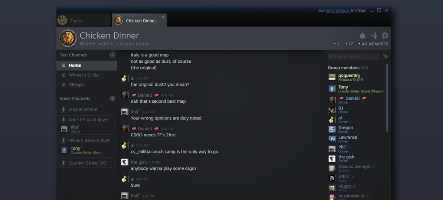 Новый чат и улучшенный список друзей теперь доступны всем пользователям Steam