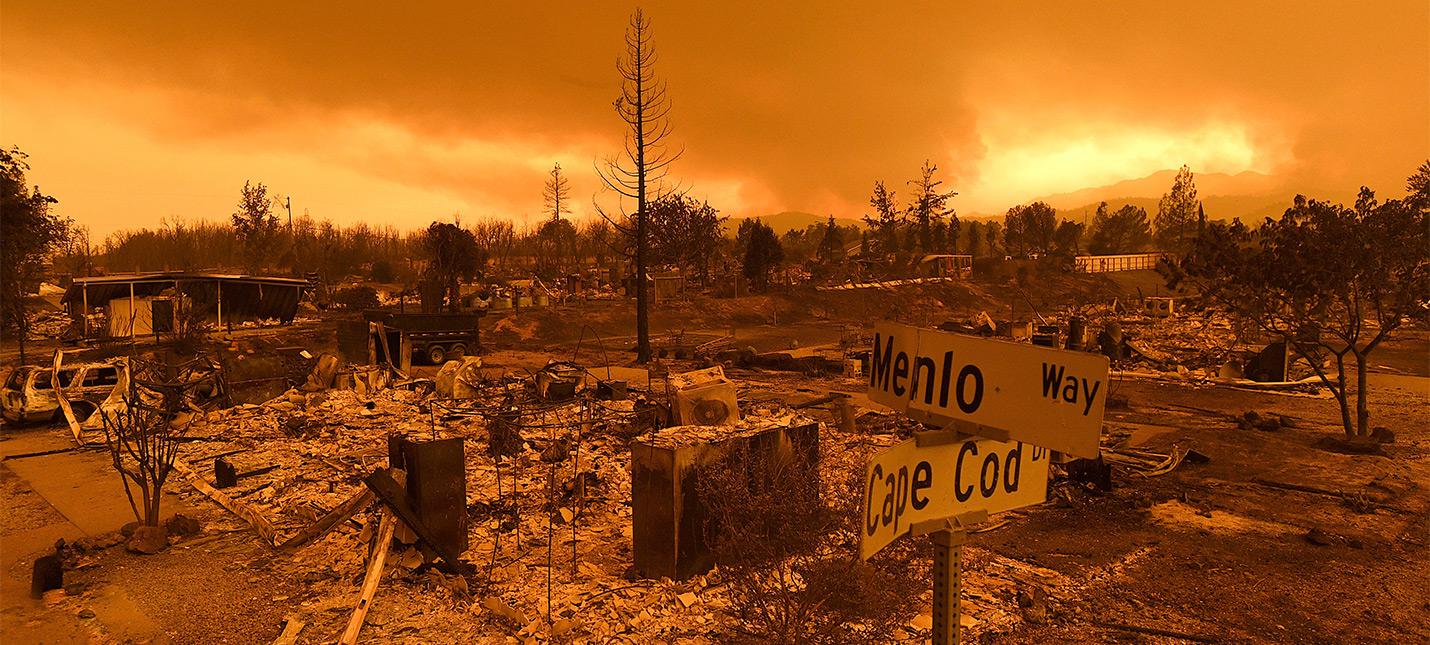 Пожары в очередной раз превратили часть Калифорнии в Fallout