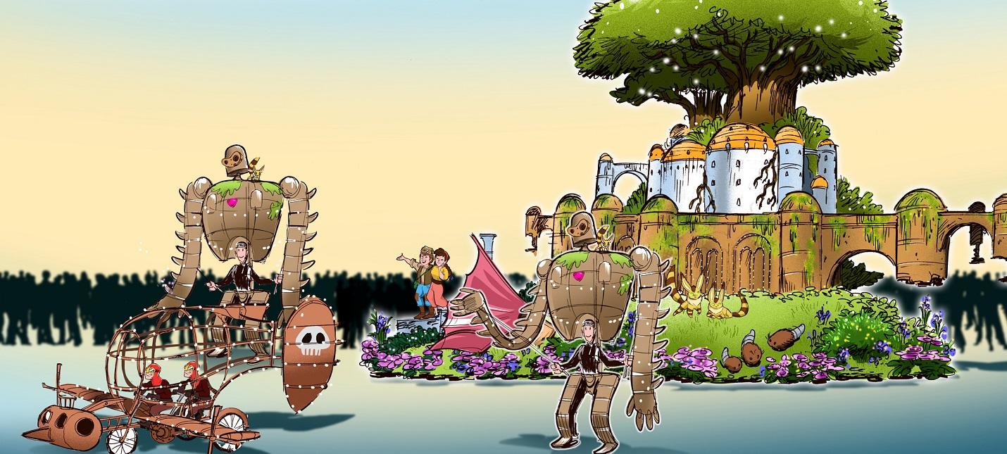 Идеи для парка Studio Ghibli от художника Disney