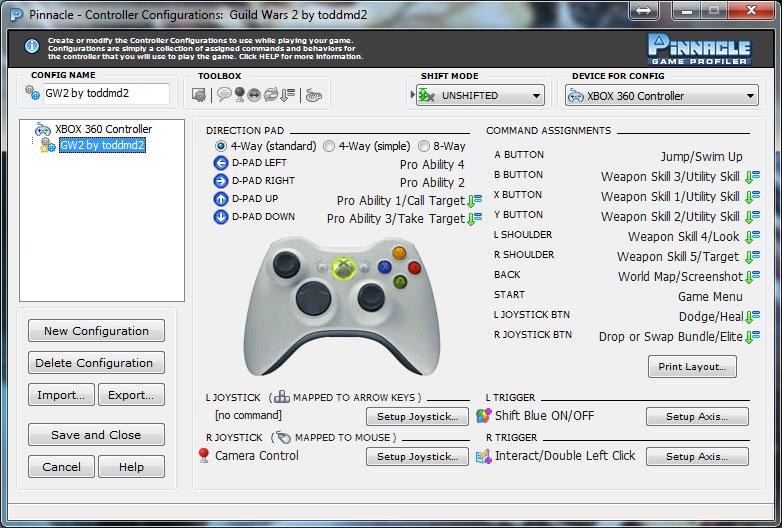 и на контроллере Xbox 360.