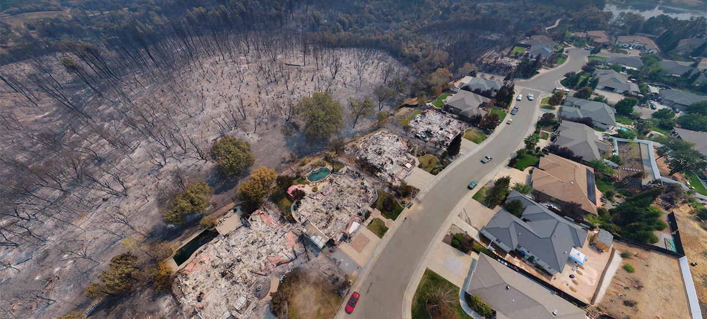 Калифорнийский Fallout с высоты летающего дрона