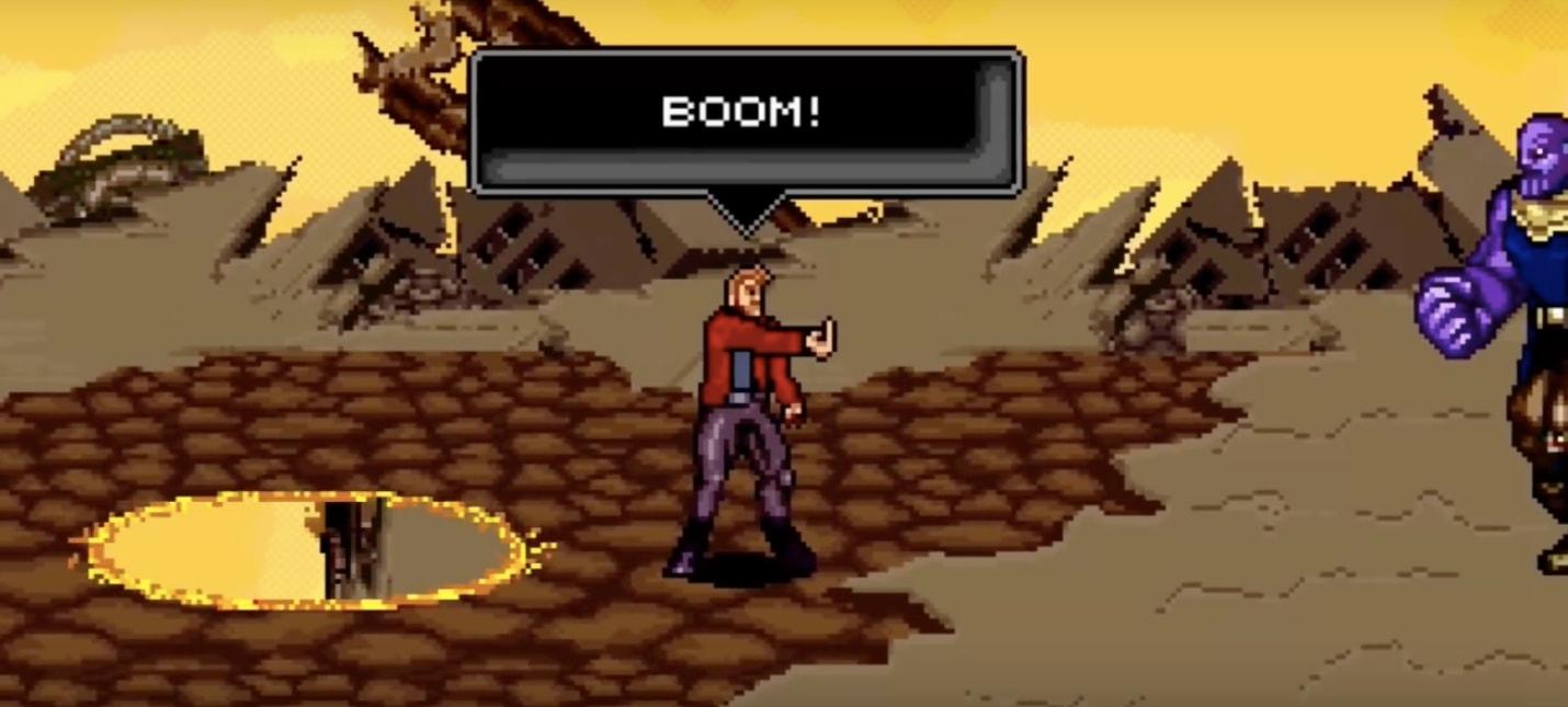 """Одну из ключевых битв """"Войны бесконечности"""" воссоздали в 16-битном стиле"""