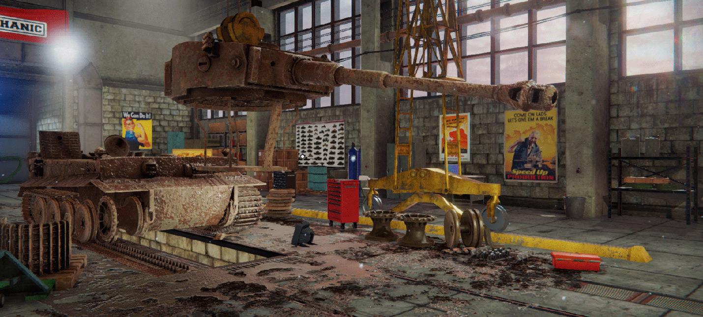 Новые ролики Tank Mechanic Simulator представляют физику и деформацию ландшафта