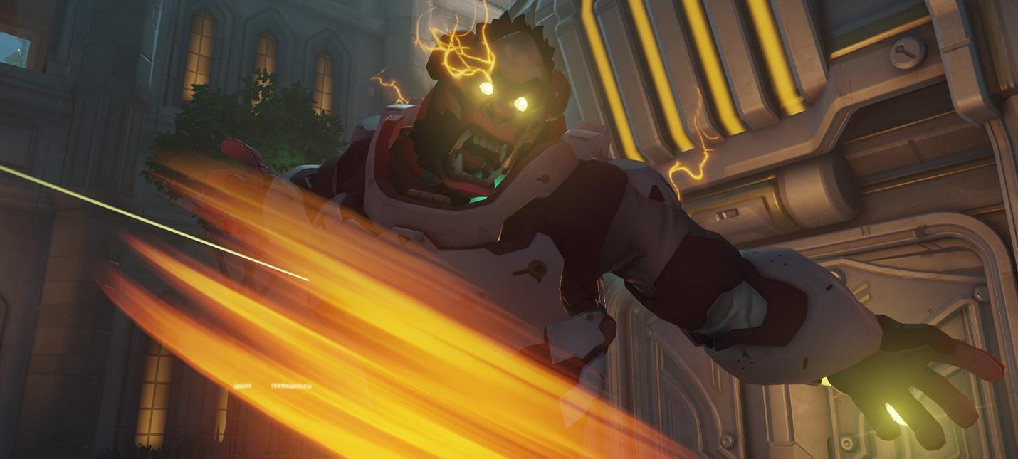 Голоса подожжённых героев Overwatch звучат возбуждённо