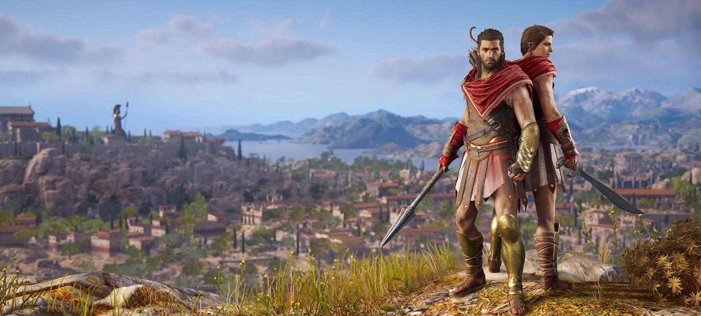 В Assassin's Creed Odyssey можно забраться на пенис Зевса