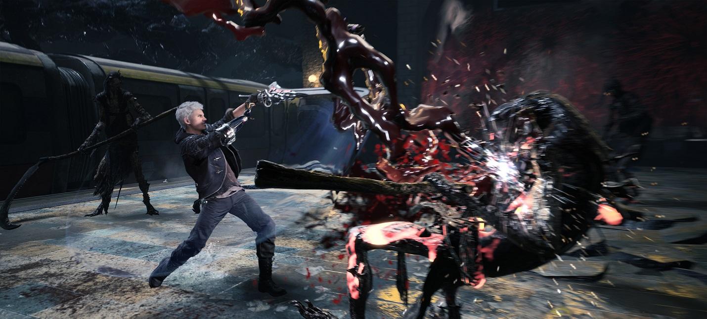 Все комбо-приёмы Неро в геймпленом ролике Devil May Cry 5