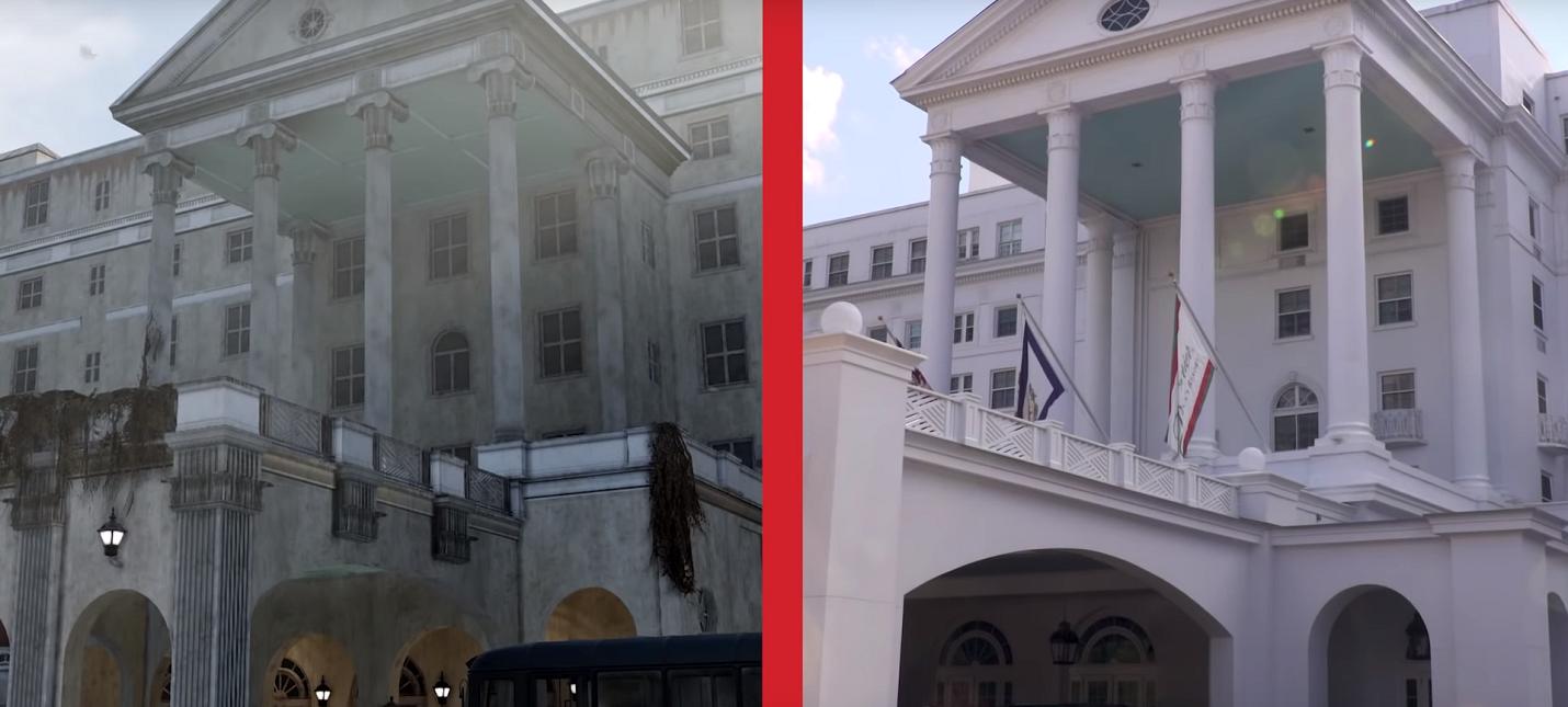 Сравнение реального места с игровым аналогам из Fallout 76