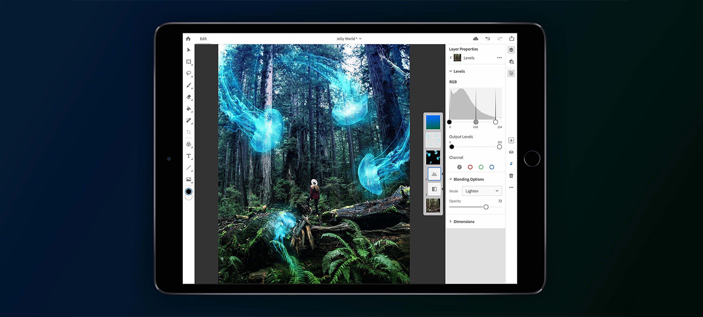 Adobe анонсировала полноценный Photoshop для iPad