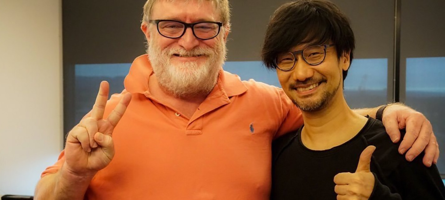 Гений и его друг: Хидео Кодзима посетил Valve и сфотографировался с Гейбом