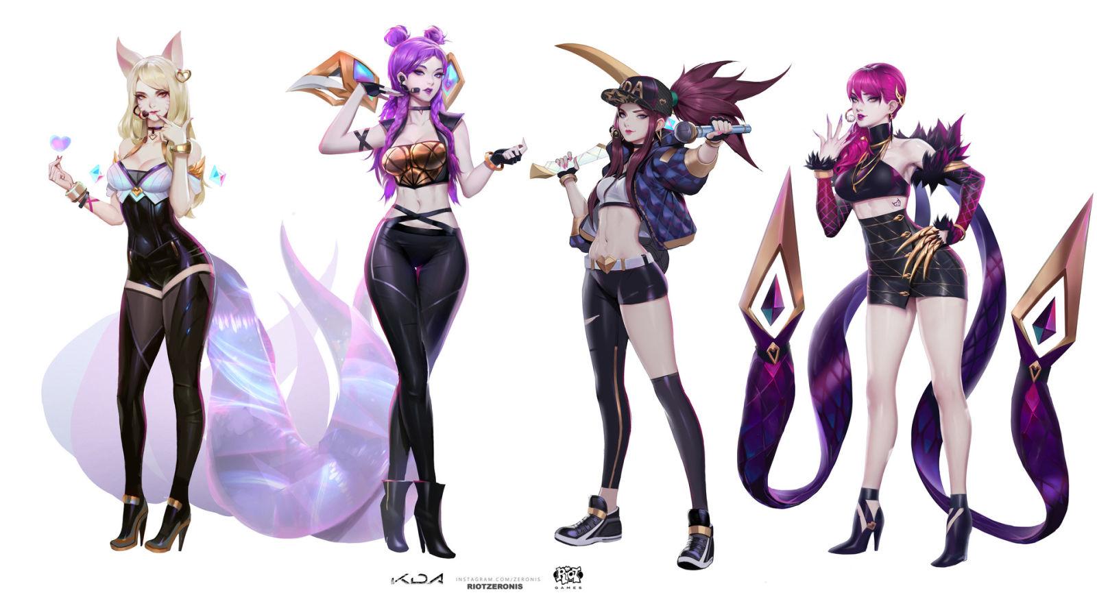 Официальные арты персонажей League of Legends из клипа POP/STARS