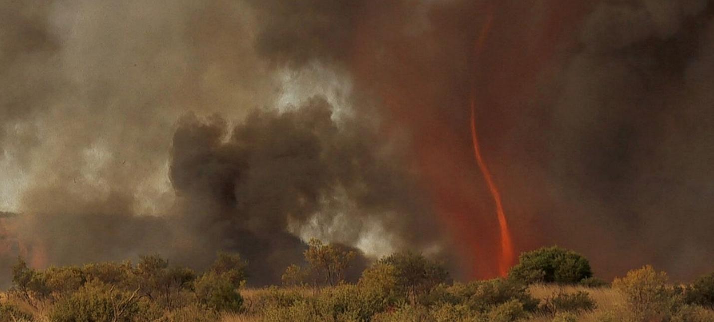 В Калифорнии поймали в кадр огненный торнадо