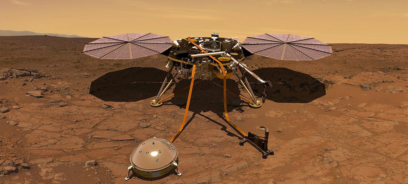 Прямой эфир с посадки аппарата InSight на Марс