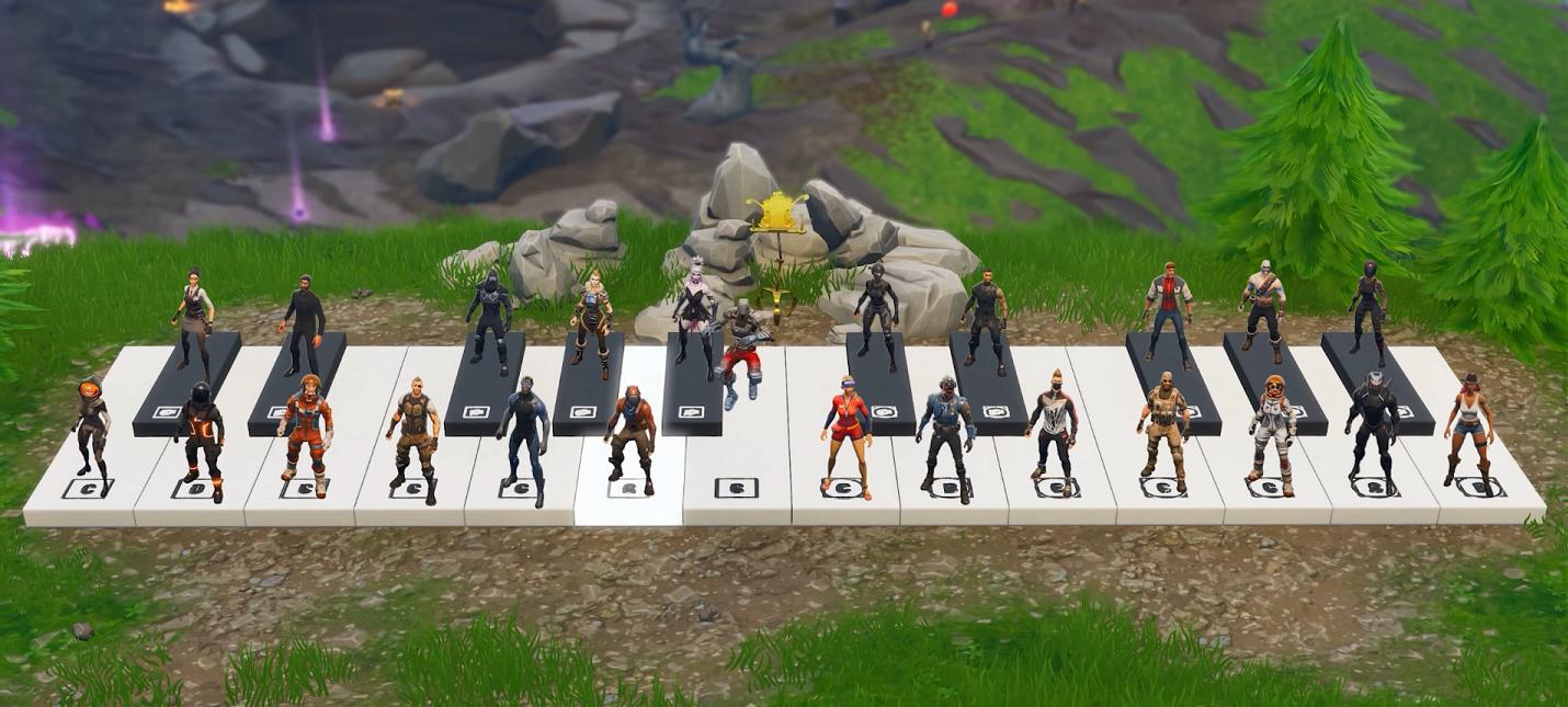 Игрок Fortnite исполнил музыкальную композицию на виртуальном пианино