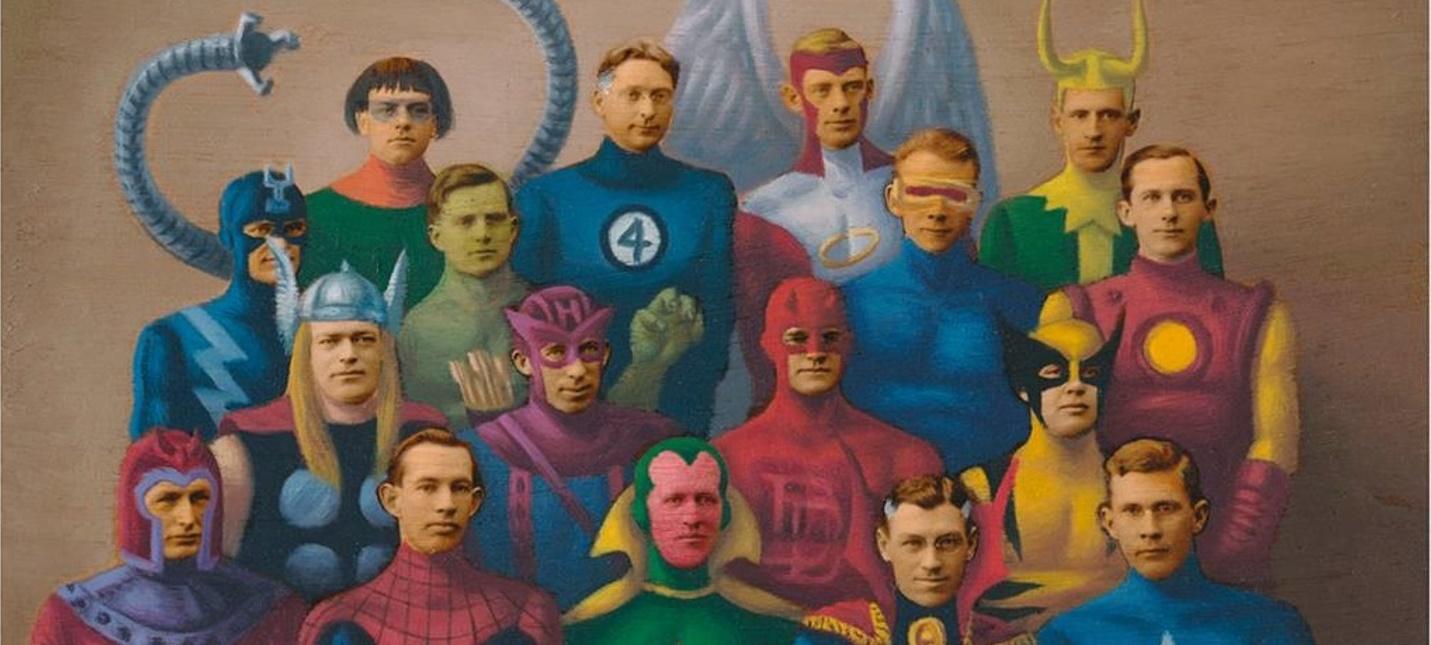 Художник превратил людей на старых фотокарточках в героев комиксов