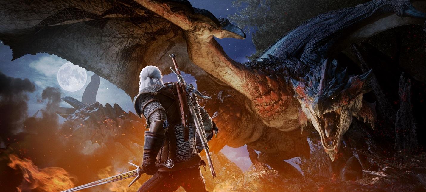 Сыграть за Геральта из The Witcher 3 в Monster Hunter: World можно будет в феврале