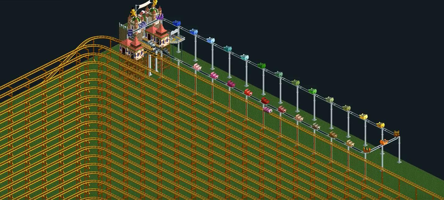 Поездка на адском аттракционе RollerCoaster Tycoon занимает 12 лет