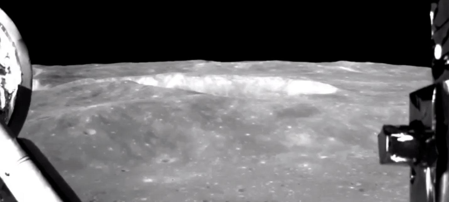 Видео посадки китайского аппарата на обратную сторону Луны