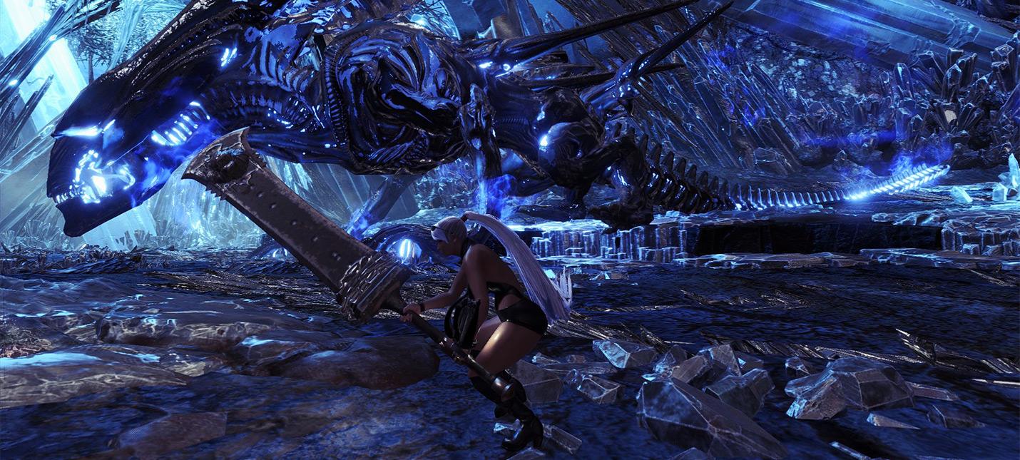 Мод добавляет в Monster Hunter: World королеву ксеноморфов